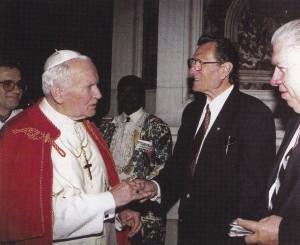 Pope John Paul II with Mr. Haffert