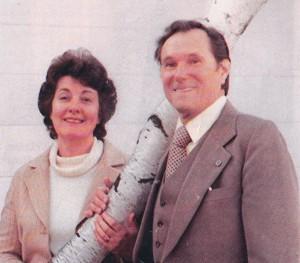 Mr. John Haffert with his wife, Pat.