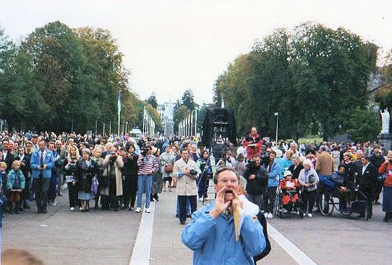 John Haffert at Lourdes
